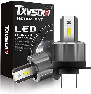 CARLAMPCR Lampadina H7 Led, 2pcs 72W 7200 LM Fari Abbaglianti o Anabbaglianti per Auto Kit - Sostituzione per Luci Alogene o Lampade Hid Lampada Luminosa