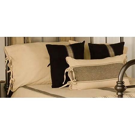 Home Collections By Raghu Oat Black Grain Sack Stripe Lumbar Pillow Cover Baby Kolenik Feeding