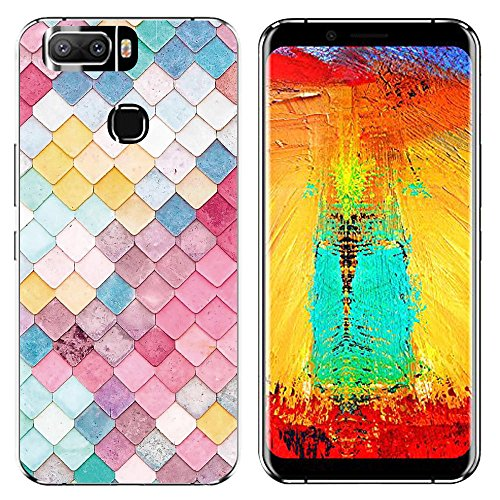 Easbuy Handy Hülle Soft Silikon Hülle Etui Tasche für Leagoo S8 Pro Smartphone Cover Handytasche Handyhülle Schutzhülle