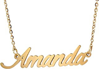 Personalized Custom Any Name Necklace in Golden Silver Jewelry