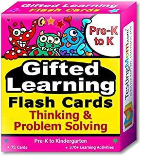 Gifted Learning Flash Cards – Thinking & Problem-Solving for Pre-K – Kindergarten – Gifted and Talented Educational Toy Practice for CogAT, OLSAT, Iowa, SCAT, WISC, ERB, WPPSI, AABL and more