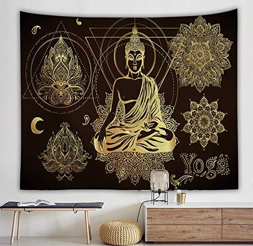 Mandala de meditación de buda indio de tela de alta calidad con 7 chakras Tapiz de moda Tapiz bohemio Suministros de ropa de cama 150x200cm / L