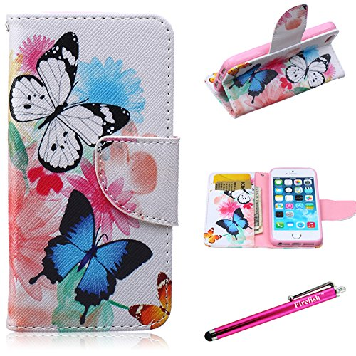 Firefish iPhone 6S Case, iPhone 6 Wallet Case [Ständer] [Bumper] PU-Leder schützende Haut...