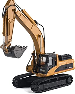 Simulation Alloy Excavator Model Toy Trucks Construction Toys, 1:40 Scale Diecast Excavator Toys Alloy Engineering Vehicle...