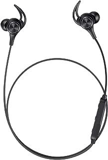 Bluetooth イヤホン 16時間連続再生 IPX6防水 マグネット搭載 Bluetooth 5.0 低音重視 高音質 10mmドライバー AAC SBC 対応 マイク内蔵 ハンズフリー 通話 CVC8.0 ノイズキャンセリング 自動ペアリング Siri対応 紛失防止 iPhone/iPad/Android適用 ブラック
