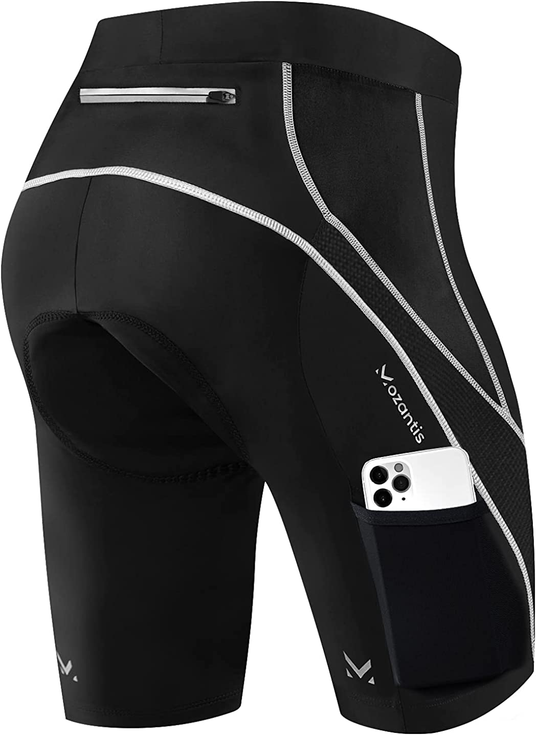 Colorado Springs Mall Mozantis Womens Bike Shorts 3D Gel Wide with Padded Po New item Waistband