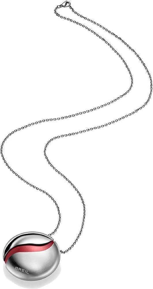Breil collana secretly per donna in acciaio bilux con elemento in alluminio intercambiabile e catena in acciai TJ1345