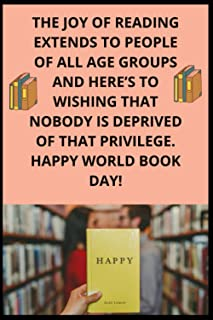 The joy of reading extends to people of all age groups and here's to wishing that nobody is deprived of that privilege. Ha...