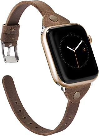 Wearlizer Scrub Deep Brown Leather Compatible with Apple...