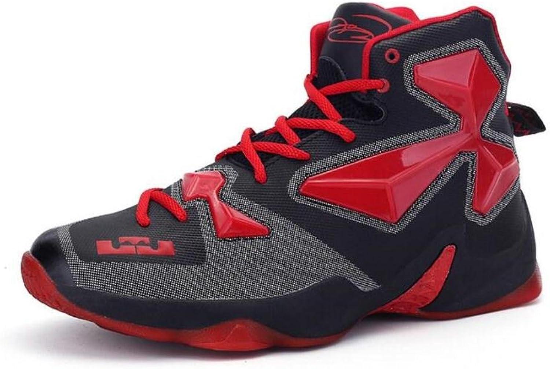 Mode för icke -Slip -Lace -up -up -up Mode skor ljusljus utomhus Sport skor, svart röd, US10  säljer bra över hela världen