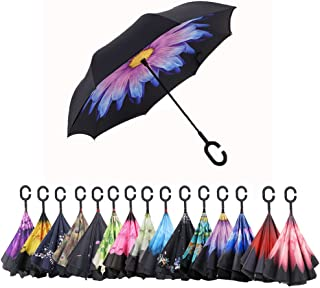 EXuby 2-Pack Self-Standing Umbrellas Innovative Hands-Free Design Inverted Style