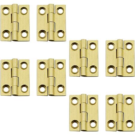 2//10pcs 60x38mm Antique Brass Mini Hinges Cabinet Drawer Jewellery Case Décor