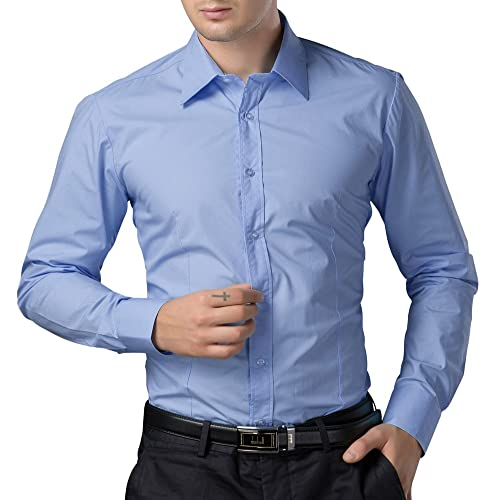 958b0de5eaa Men s Casual Business Slim Fit Shirt Button Down