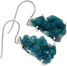 Xtremegems Grape Agate Manakarra Botryoidal Crystal Chalcedony 925 Silver Earrings Jewelry 1 1/4