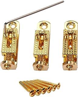 Sharplace 3 Pedazos Único Solo Guitarra Accesorio Caballete para 3/4/5 Secuencias de Guitarra de Banjo - Oro