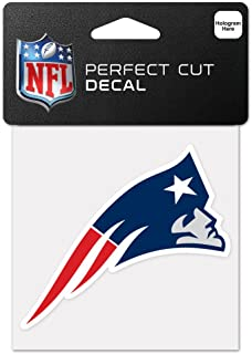 Wincraft NFL New England Patriots 63055011perfekten Schnitt Farbe Aufkleber, 10,2x 10,2cm schwarz