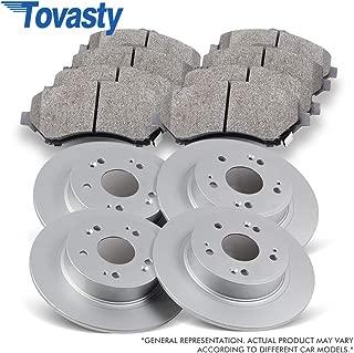 Tovasty Front Rear Brake Kit [E-Coated Rotors + Ceramic Pads] PB810310E For 2007-2012 Lexus ES350 2008-2012 Toyota Avalon 2007-2011 Toyota Camry
