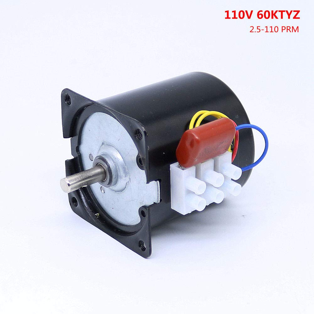 Synchronous Motor 60KTYZ 110V AC 60Hz 1 RPM CW//CCW 14W Gear Motor