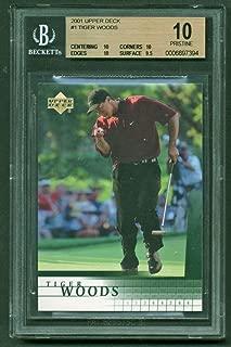 Tiger Woods 2001 Upper Deck Beckett BGS 10