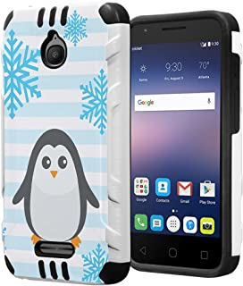 Capsule Case Compatible with Alcatel Onetouch Pixi Avion, Alcatel Streak, Alcatel Acquire, Alcatel Dawn, Alcatel Ideal [Dual Layer Slim Defender Armor Combat Case] - (Penguin)