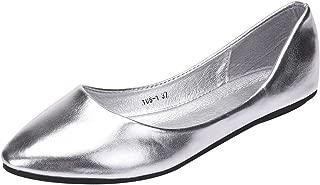 Femmes Velours Bout Rond Mocassin Ballerine Chaussures D/'été Plat pompe Tailles 3-8
