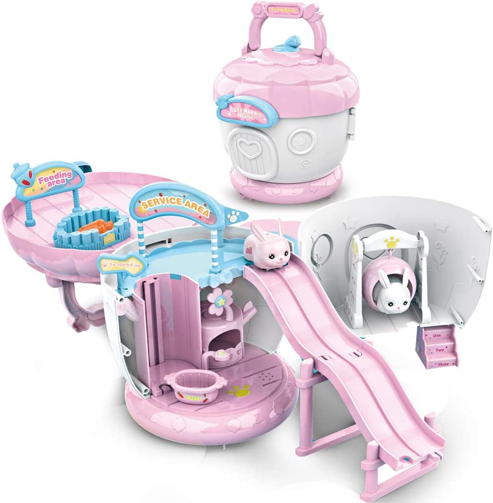 Buy ZhanXiang Pine Cone HouseToys Sets,Rabbit Playground Slide ...