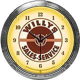 Neonetics Servicio Willys Venta Jeep Reloj de neón