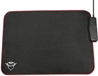 Trust Gaming GXT 765 Glide-Flex RGB - Tappetino per mouse e hub USB (350 x 250 mm, illuminazione LED RGB multicolore, illu...