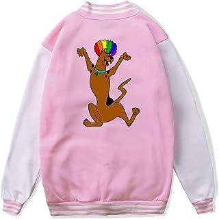 VJJ AIDEAR Funny Scooby Doo Baseball Uniform Jacket Sport Coat Child Long Sleeve Hoodie Outwear Black