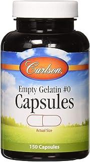 Carlson - Empty Gelatin #1 Capsules, Size #0, Empty Gelatin Capsules, Easy to Separate & Fill, Empty Capsules, Gel Caps, 1...