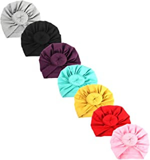 Upsmile Baby Girl Hat Newborn Hospital Hat Infant Turban Nursery Beanie Headwrap