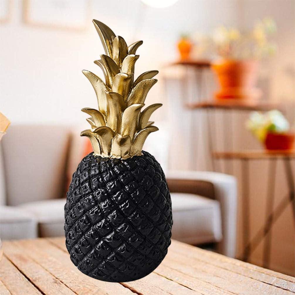 DOITOOL Resin Pineapple Ornament Creative Pineapple Figurines Living Room TV Cabinet Desktop Decoration Home Decor Golden Large
