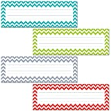 Creative Teaching Press Chevron Solids Name Plates (4517),MULTI
