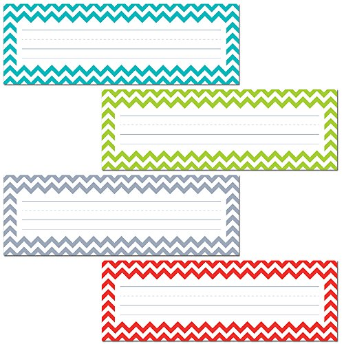 Creative Teaching Press Chevron Solids Name Plates (4517),MULTI