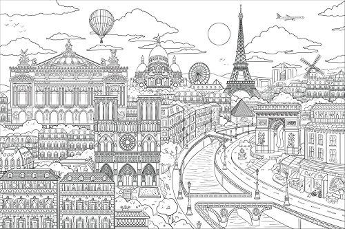 WallPops WPK2186 Visite Paris Wall Decal, Multicolor