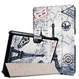Foto Custodia protettiva per Acer Iconia Tab One 10 B3-A30 A3-A40 10.1 Pollici Bookstyle Cover Custodia + GRATIS Penna Touch - Torre Eiffel