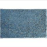 SZBLYY Felpudo Entrada Casa Azul Grueso Grueso Suave Dormitorio Mullido Alfombrilla Antideslizante súper Absorbente Alfombra de baño Rectangular Sala de Estar Alfombra Lavable Lavable