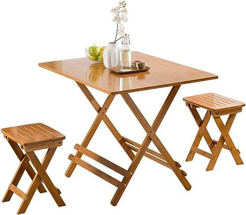 Table Pliante YH Table à Manger Minimaliste Moderne Loisirs Maison Manger Table Portable Petit Bois Table Carrée A+ (Couleur   A, Taille   80)