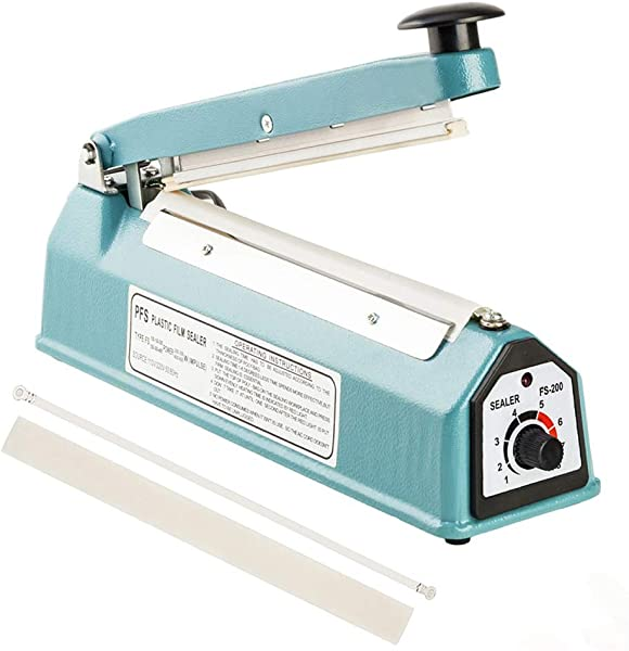 ROVSUN 8 200mm Impulse Sealer Shrink Wrap Machine Heat Sealing Machine With Free Replacement Heating Element And Teflon Tape