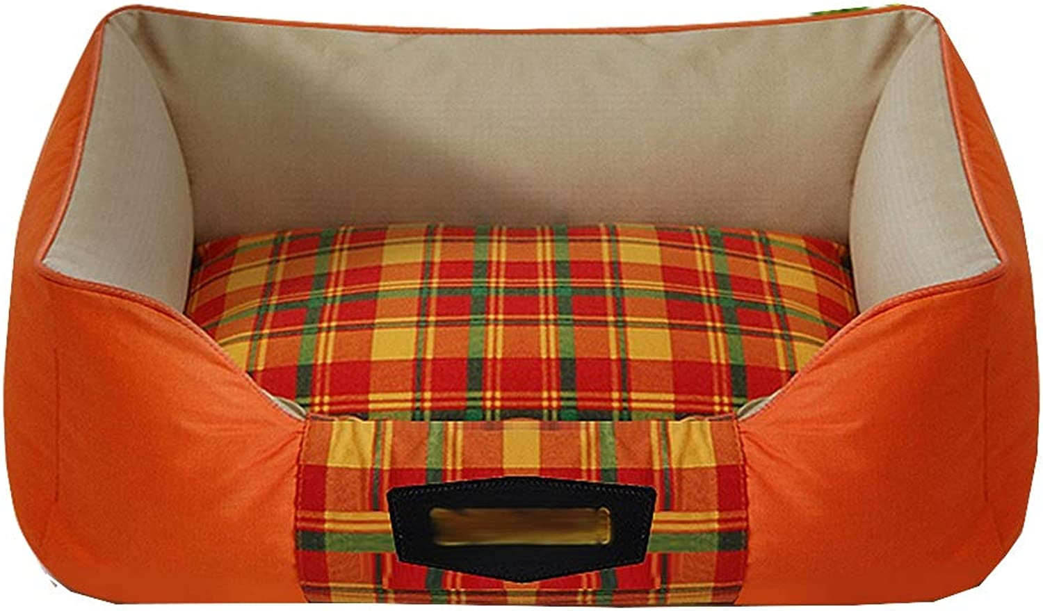 Pet Bed Pet Sofa Cat Nest Pet Nest Dog Nest Cat Kennel Kennel Fully Enclosed Removable And Washable, Nonslip FENGMING (color   orange, Size   L)