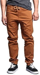 Men's Drop Crotch Jogger Twill Pants