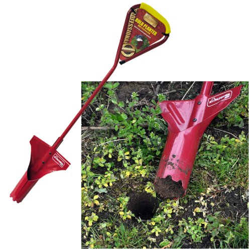 Kingfisher RC402 Pro Gold Long Handled Bulb Planter - Red