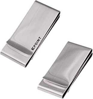 Epoint Mens Fashion Smart Mens Money Clip 1pc Card Holder Stainless Steel