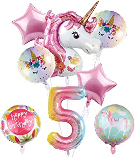 8Pcs Large Unicorn Balloons Party Supplies, 43