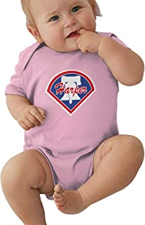 Moore Me Unisex Baby Onesie Bodysuit Blue Philadelphia Harper Logo Short-Sleeve Bodysuit for Boys and Girls