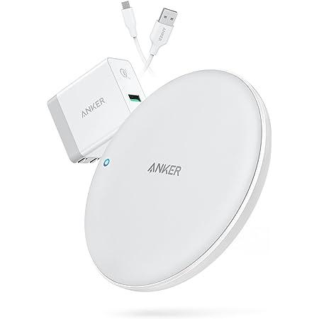 【USB充電器セット】Anker PowerWave 7.5 Pad(7.5W ワイヤレス充電器 冷却ファン内蔵モデル)【PSE認証済/Qi認証済/Quick Charge 3.0対応急速充電器付属】(ホワイト)