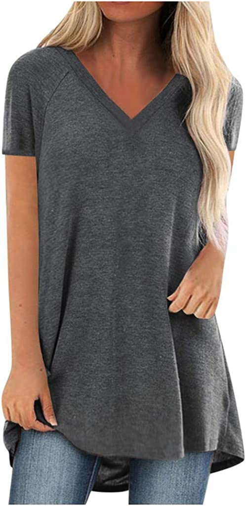 Womens Tops Short Sleeve V Neck Womens Be Kind T Shirt Summer Letter Print Short Sleeve Loose Tops Inspirational Graphic Tees Gray