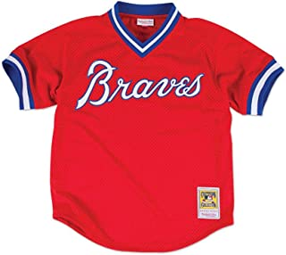 Mitchell & Ness Dale Murphy Atlanta Braves Men's Authentic 1980 BP Jersey - Red