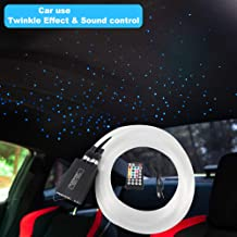 2019 Upgraded Car use 12W Twinkle RGBW LED Fiber Optic Star Ceiling kit Remote Music Mode, Mixed 296 Strands 9.8ft, 0.03in+0.04in+0.06in