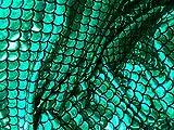 Groß 1/5,1cm Mermaid Waage Stoff 4Wege Stretch Spandex